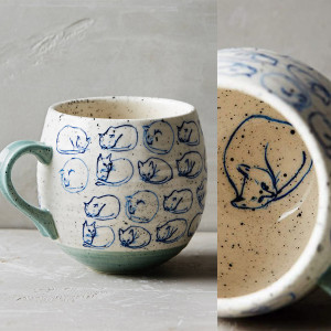 cat study mug anthropologie