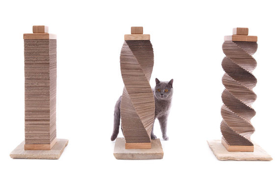 sculpted cat scratcher