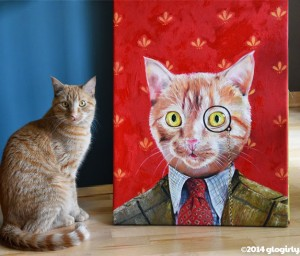splendid beast custom cat painting