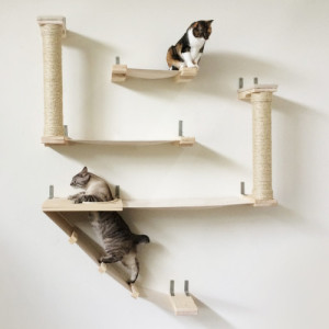 The Roman Cat Fort U2013 Cat Hammock Shelves