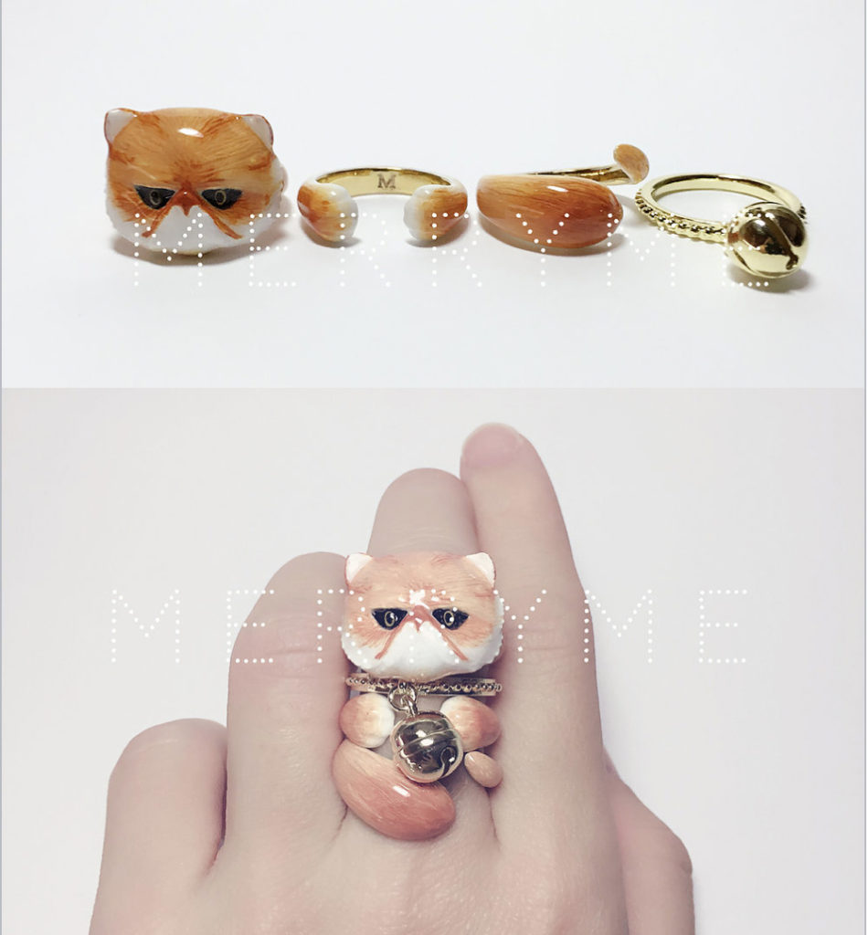 Brass Enamel Stacked Cat Ring Set Are You Swooning Yet Start