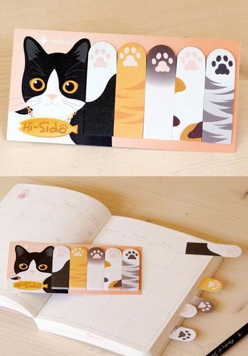 cat-paw-sticky-notes