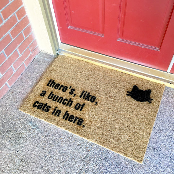 thecheekydoormat-cats-in-here-doormat